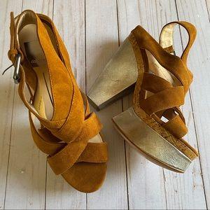 Dolce Vita strappy platform heels